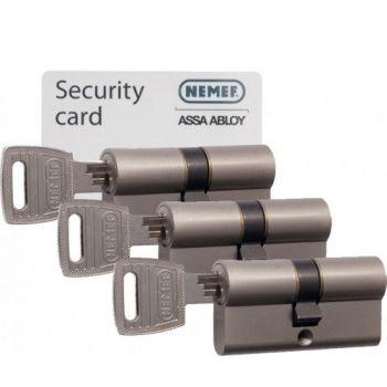 Nemef 132/9 30/30 set 3 cilindersloten met 9 sleutels SKG3