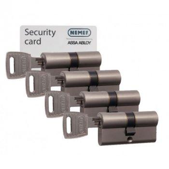 Nemef 132/9 30/30 set 4 cilindersloten met 12 sleutels SKG3