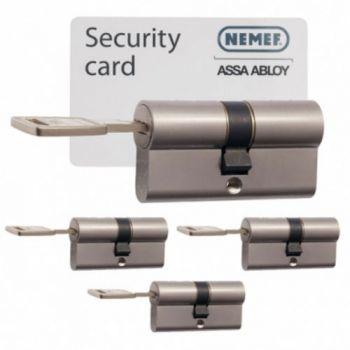 Nemef 142/9 30/30 set 4 cilindersloten met 12 sleutels SKG3