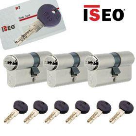 Iseo R7 30/30 set 3 cilindersloten met 6 sleutels SKG3