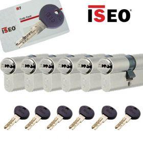 Iseo R7 30/30 set 6 cilindersloten met 6 sleutels SKG3