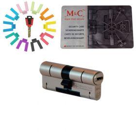 M&C Color set van 1 cilinder 32/32 met 3 sleutels SKG***