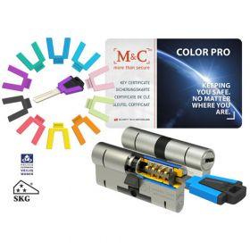 M&C Color Pro 32/32 set 2 cilindersloten met 5 sleutels SKG3