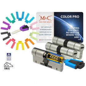 M&C Color Pro 32/32 set 3 cilindersloten met 5 sleutels SKG3