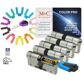 M&C Color Pro 32/32 set 5 cilindersloten met 7 sleutels SKG3