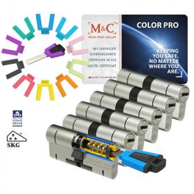 M&C Color Pro 32/32 set 6 cilindersloten met 8 sleutels SKG3