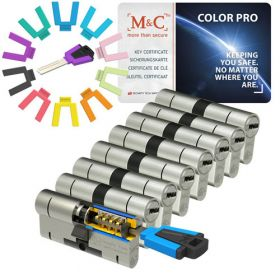 M&C Color Pro set van 8 cilinders 32/32 met 9 sleutels SKG***