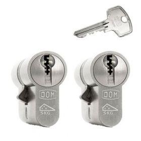 Dom Plura set van 2 cilinders 30/30 met 6 sleutels SKG***