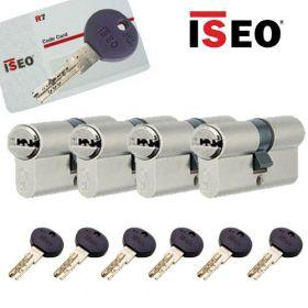 Iseo R7 30/30 set 4 cilindersloten met 6 sleutels SKG3