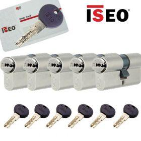 Iseo R7 30/30 set 5 cilindersloten met 6 sleutels SKG3