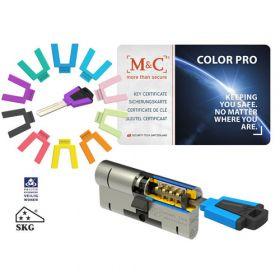 M&C Color Pro 32/32 set 1 cilinderslot met 3 sleutels SKG3