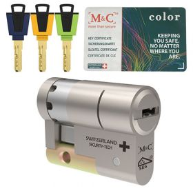 M&C Color+ halve veiligheidscilinder SKG3