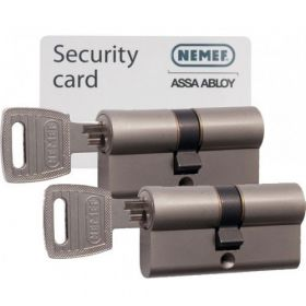 Nemef 132/9 30/30 set 2 cilindersloten met 6 sleutels SKG3