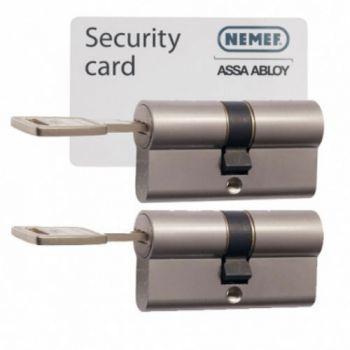 Nemef 142/9 30/30 set 2 cilindersloten met 6 sleutels SKG3